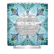 Chinease Ketubah- Reformed And Interfaithversion Shower Curtain