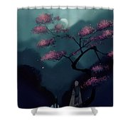 Chinese Ancient Style Shower Curtain