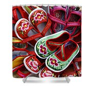 Chinese Baby Shoes Shower Curtain