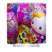 Chinese Balloons Shower Curtain