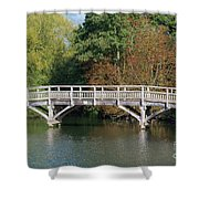 Chinese Bridge Over The River Shower Curtain