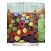 Chinese Checkers Shower Curtain
