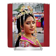 Chinese Cultural Fashion Girl Shower Curtain
