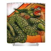 Chinese Dragon Art Shower Curtain