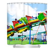 Chinese Dragon Ride 1 Shower Curtain
