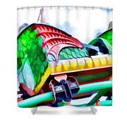 Chinese Dragon Ride 4 Shower Curtain