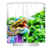 Chinese Dragon Ride Shower Curtain