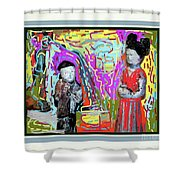 Chinese Figures Shower Curtain