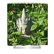 Chinese Garden Gnome Shower Curtain