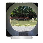 Chinese Garden View Shower Curtain