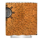 Chinese Geomantic Compass And Perpetual Shower Curtain