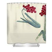Chinese Hawthorn Shower Curtain