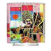 Chinese Historical Warrior Shower Curtain