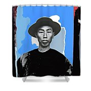 Chinese Immigrant Tucson Arizona Circa 1910 Color Added 2016 Shower Curtain