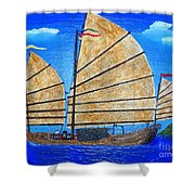 Chinese Junk Shower Curtain