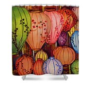 Chinese Lantern Festival Shower Curtain