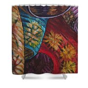 Chinese Lanterns Shower Curtain