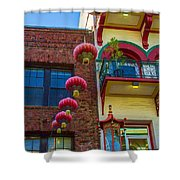 Chinese Lanterns Over Grant Street Shower Curtain