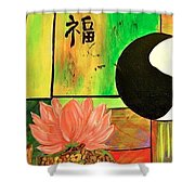 Chinese Medicine Shower Curtain