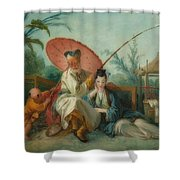 Chinese Motif Shower Curtain