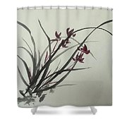 Chinese Orchid Shower Curtain