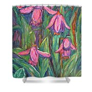 Chinese Orchids Shower Curtain