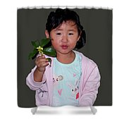 Chinese Orphan Girl Shower Curtain