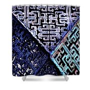 Chinese Pattern Shower Curtain