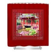 Chinese Pavilion Rhododendron Gardens Burnie Tasmania Shower Curtain