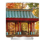 Chinese Pavillion In Tower Grove Park Shower Curtain