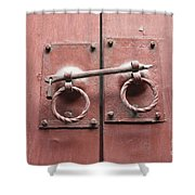 Chinese Red Door With Lock Shower Curtain