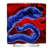Chinese Serpent Rising Shower Curtain