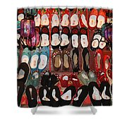 Chinese Slippers Shower Curtain