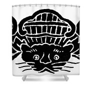 Chinese Symbol: Luck Shower Curtain