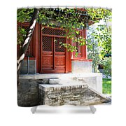 Chinese Temple Garden Shower Curtain
