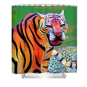 Chinese Tiger 2 Shower Curtain
