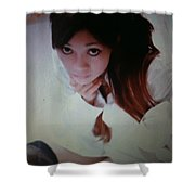 Ching Pose Shower Curtain