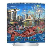 Chingay Parade Shower Curtain