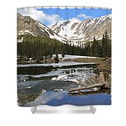 Chinns Lake Reflections 3 Shower Curtain