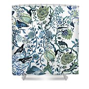 Chinoiserie Blue Shower Curtain
