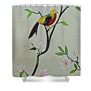 Chinoiserie - Magnolias And Birds #1 Shower Curtain