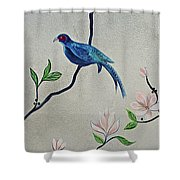 Chinoiserie - Magnolias And Birds #4 Shower Curtain