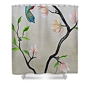 Chinoiserie - Magnolias And Birds #5 Shower Curtain