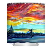 Chinook Arch Over Bow River Shower Curtain