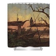 Chinook Burial Grounds Shower Curtain