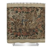 Chintz Square Shower Curtain