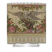 Chintz Valance For Poster Bed Shower Curtain