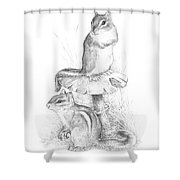 Chip And Chatter Shower Curtain