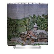 Chirch Near Gorno-altaisk  Shower Curtain