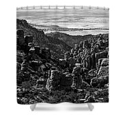 Chiricahua Hoodoo Vista Shower Curtain